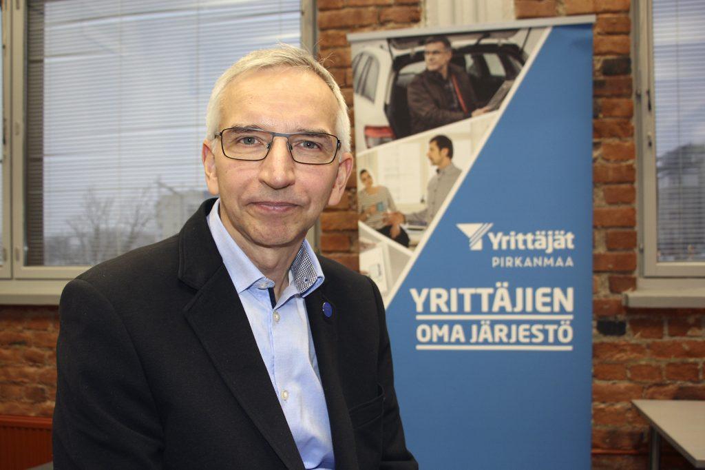 Pirkanmaan Yrittäjien puheenjohtaja Janne Vuorinen johtaa 80-vuotista yhdistystä, jolla on noin 9500 jäsentä. Yrittäjät ovat keskeisiä toimijoita ja vaikuttajia maakunnassa. Mitä yrittäjäpomo ajattelee maakunta- ja sote-uudistuksesta, kuullaan keskiviikkoaamuna alkaen kello 9.30 Radio Sunin Päivän vieras -ohjelmassa. (Kuva: Matti Pulkkinen)