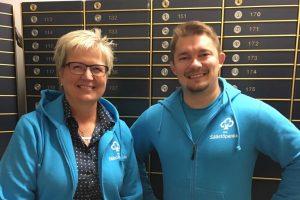 Rahoituspäällikkö Aarne Pitkänen ja toimitusjohtaja Pirkko Ahonen uskovat, että nuoret huippu-urheilijat ovat kiinnostuneita talousneuvonnasta. Aito Säästöpankki kantaa hankkeellaan yhteiskuntavastuuta.