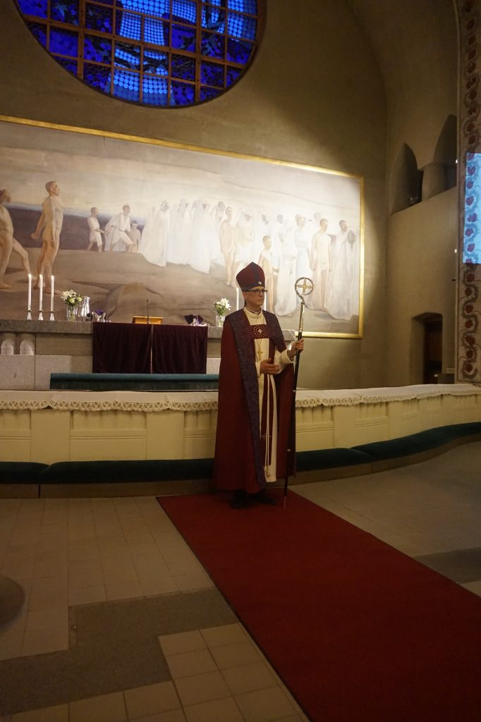 Tampereen tuomiokirkossa tulevana sunnuntaina pidettävässä jumalanpalveluksessa saarnaa piispa Matti Repo. (Kuva: Matti Pulkkinen)