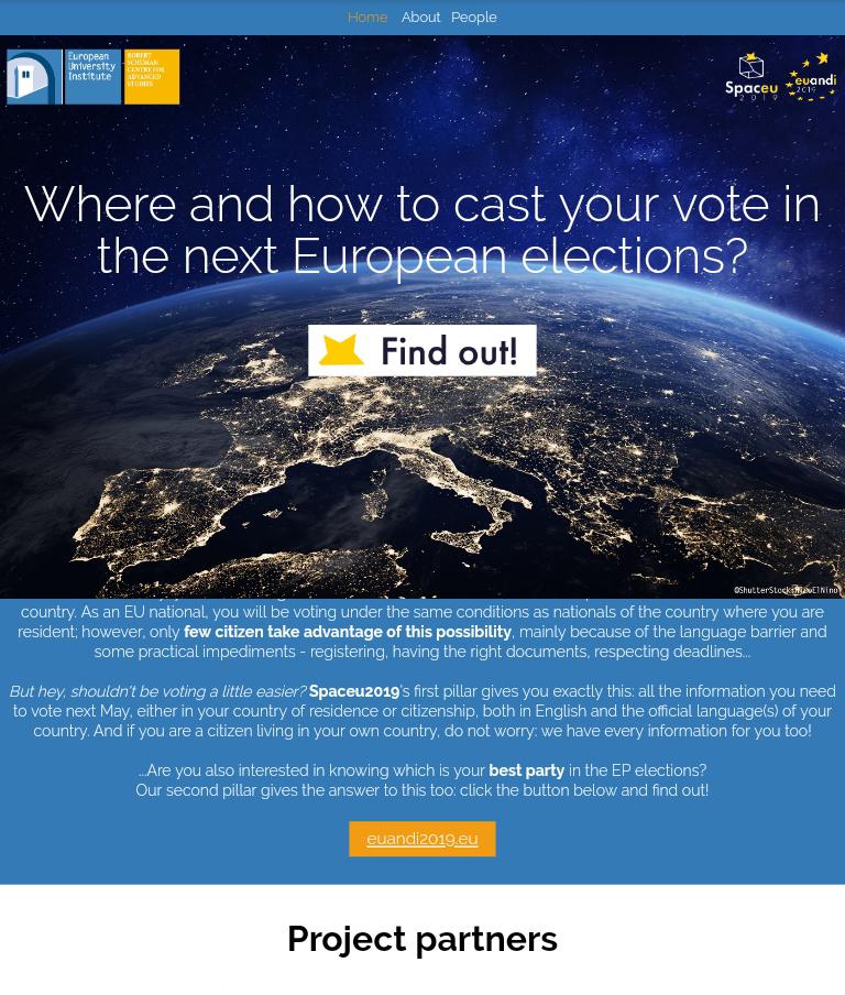 Uusi vaalikone paikantaa äänestäjän Euroopan poliittiselle kentälle. Koko EU-alueen yhteinen vaalikone auttaa äänestäjää löytämään itselleen sopivan ehdokkaan EU-vaaleissa. Euandi2019-työkalu on ainutlaatuinen, koska se näyttää, mihin äänestäjä sijoittuu poliittisesti koko EU:ssa, ei vain kotimaassa.