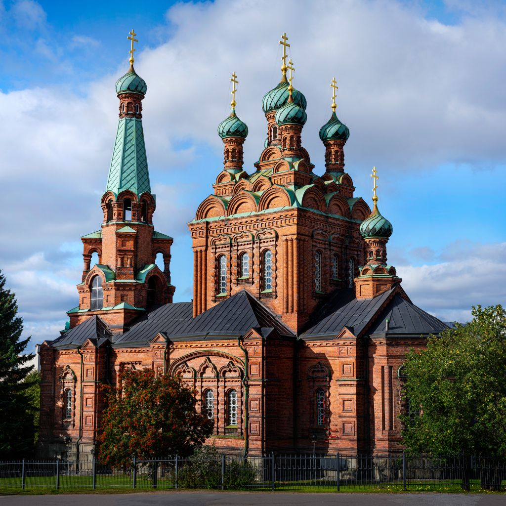 Kirkon temppelijuhlia vietetään 23. marraskuuta Pyhän Aleksanteri Nevskin ja 6. joulukuuta Pyhän Nikolaoksen kunniaksi. (Kuva: Sami Reivinen)