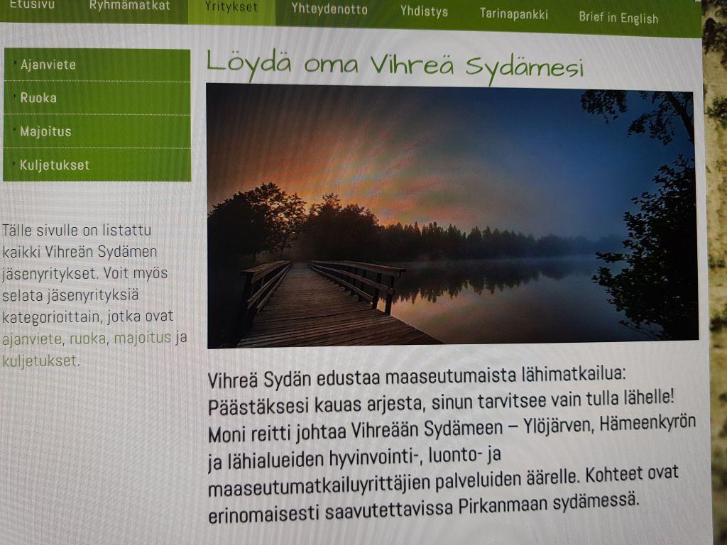 Vihreä Sydän Matkailuyrittäjät ry:ssä oli 46 jäsenyrittäjää/yritystä.
