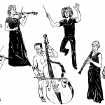 Tampere Filharmonia tavoittelee sarjakuvilla uutta konserttiyleisöä - sarjakuvataiteilija Ville Pirinen innostui harpun äänen ja muotojen vangitsemisesta kuvaan