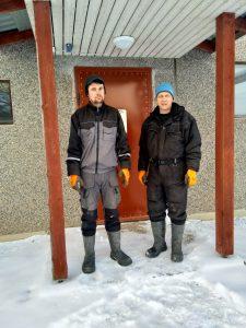 Juha ja Niilo Haikka toivovat sianlihantuotantoon tasavertaista kohtelua maassamme olevien ri tukialueiden kesken. Pirkanmaa kuuluu tällä hetkellä pienien tukien alueeseen. (Kuva: Haikan tila)