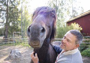Mika Nissilän yrityksen vieraat saavat tutustua hevoseen ja poniin. Yrittäjä on paneutunut toimitilojensa lisärakentamiseen. Hän odottaa piristyvää kysyntää, kun koronapandemia hellittää otettaan.